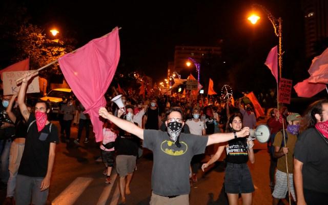 Decenas de miles de israelíes piden en las calles la dimisión de Netanyahu - Foto de EFE