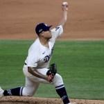 La reacción de Julio Urías tras llevar a Dodgers a la Serie Mundial - Foto de EFE