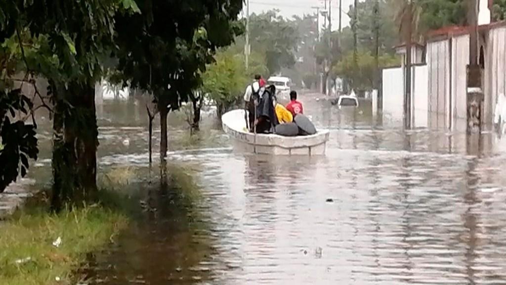 Daños en casas, comercios y viviendas por lluvias torrenciales en Villahermosa, Tabasco - Foto Twitter @ProcivilTabasco
