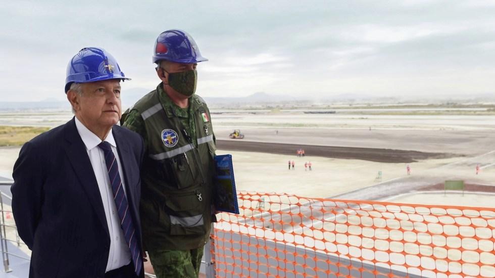 Obras en Santa Lucía van al 40%, afirma AMLO; asegura que estará inaugurado el 21 de marzo de 2022 - Foto de Twitter López Obrador