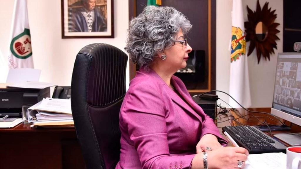 Acusa presidenta del Tribunal Superior de Justicia de Veracruz destitución y amenazas del secretario de Gobierno, Eric Cisneros - Foto Twitter @magdasofiamtz