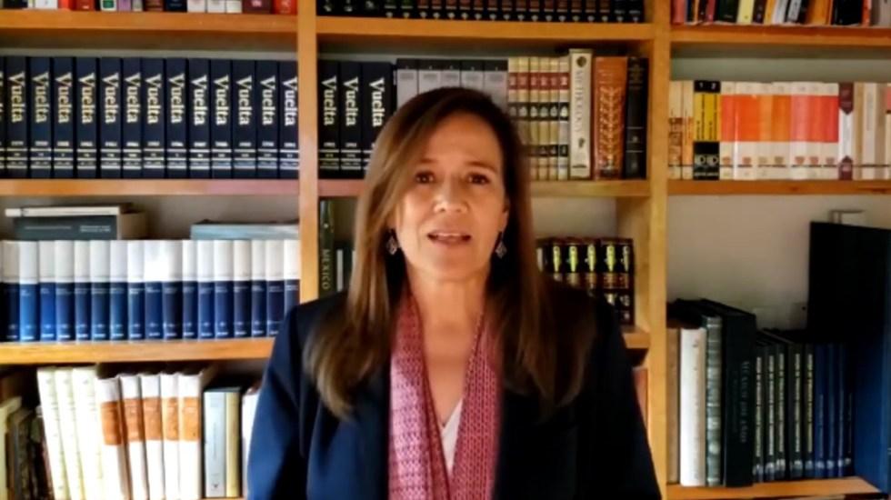 Acusa Margarita Zavala presiones del Ejecutivo al TEPJF; seguirá luchando por México Libre - Margarita Zavala. Captura de pantalla