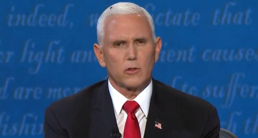 #Viral Mosca se roba el protagonismo en el debate vicepresidencial - Mike Pence mosca debate vicepresidencial