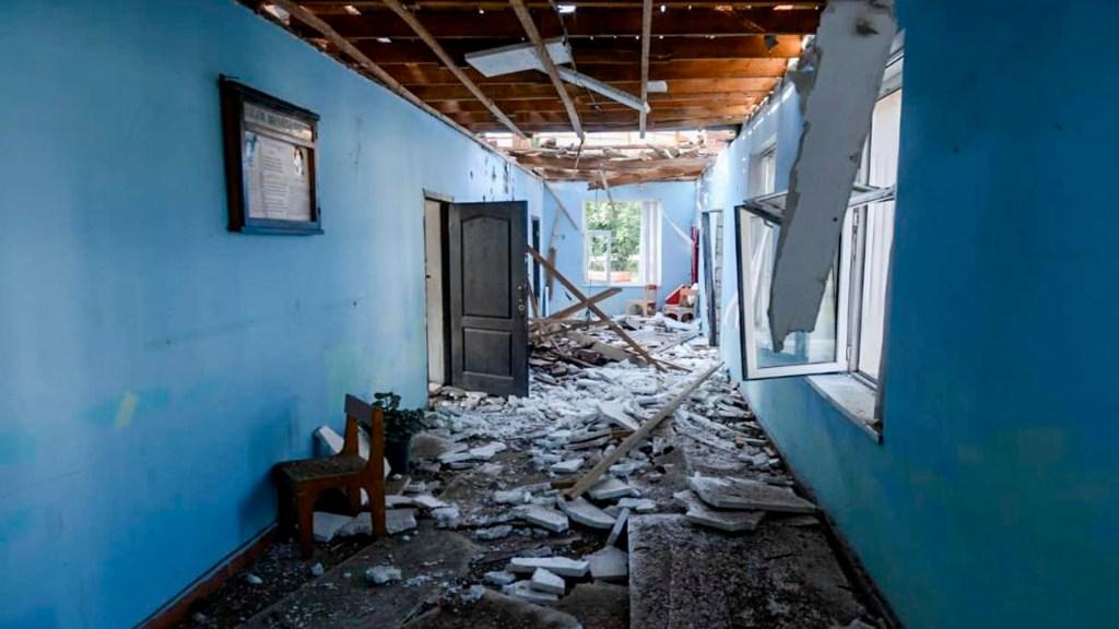 Violaciones a tregua humanitaria disipan alto al fuego en en Nagorno Karabaj - La escalada del conflicto de Nagorno-Karabaj llega justo cuando los niños están regresando a sus estudios en la escuela. Foto Twitter@CICR_es