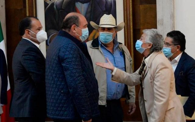 Garantiza Sánchez Cordero abasto de agua a productores de Chihuahua; instalarán mesas de trabajo - Foto Twitter @M_OlgaSCordero