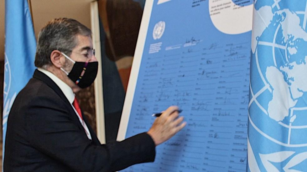 Embajador De la Fuente reafirma compromiso de México con la ONU a 75 años de su creación - Foto de Twitter @MexOnu