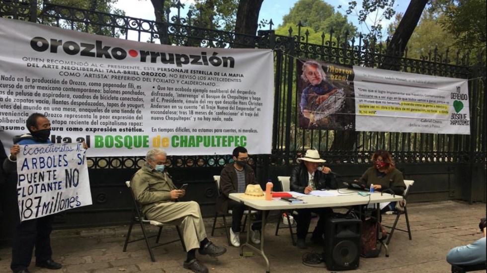 Exigen conocer plan maestro del Pabellón Contemporáneo Mexicano en el orquideario de Chapultepec - Foto de Yo Defiendo Chapultepec