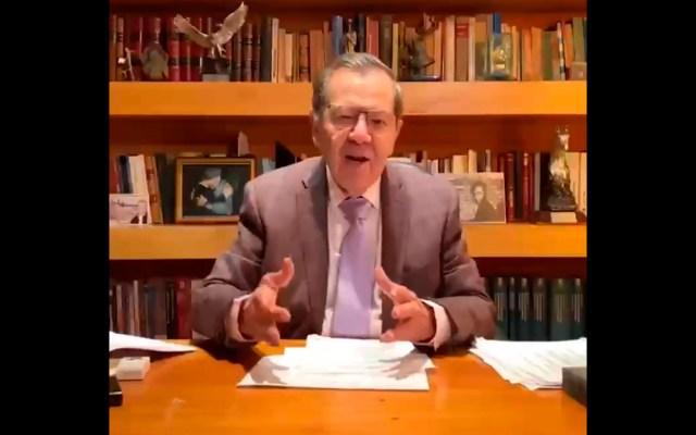 Muñoz Ledo acusa a Mario Delgado de aprovechar su posición en bancada de Morena en San Lázaro para impulsar candidatura - Porfirio Muñoz Ledo. Foto Captura de pantalla