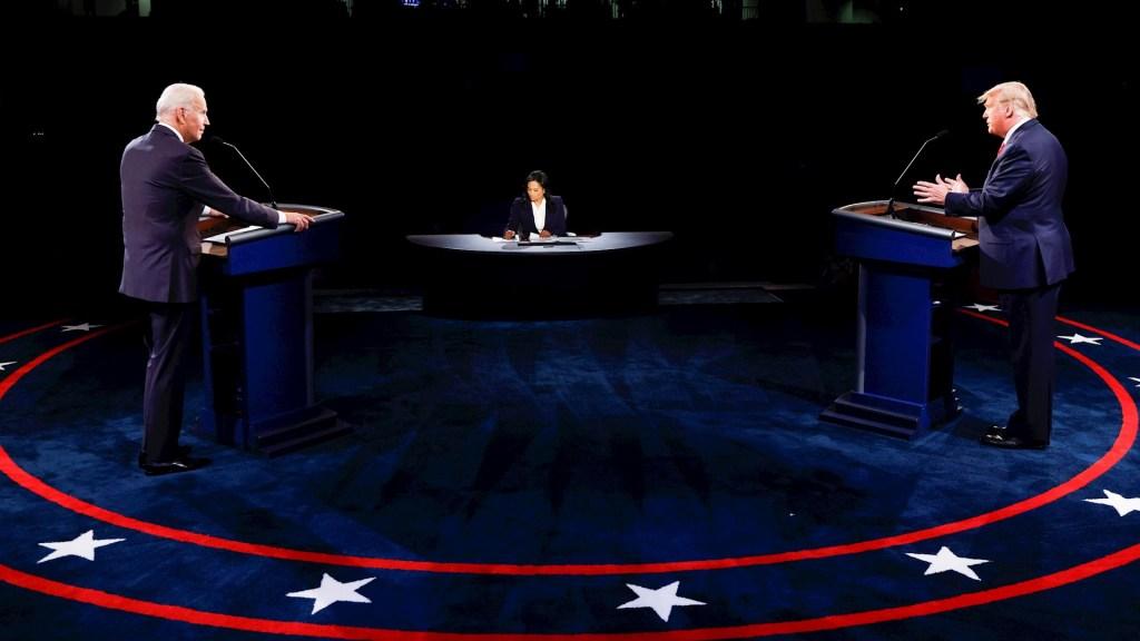 En un debate que terminó por no convencer a indecisos, Trump y Biden contrastan posturas rumbo a la recta final - Segundo Debate Presidencial Biden Trump Estados Unidos