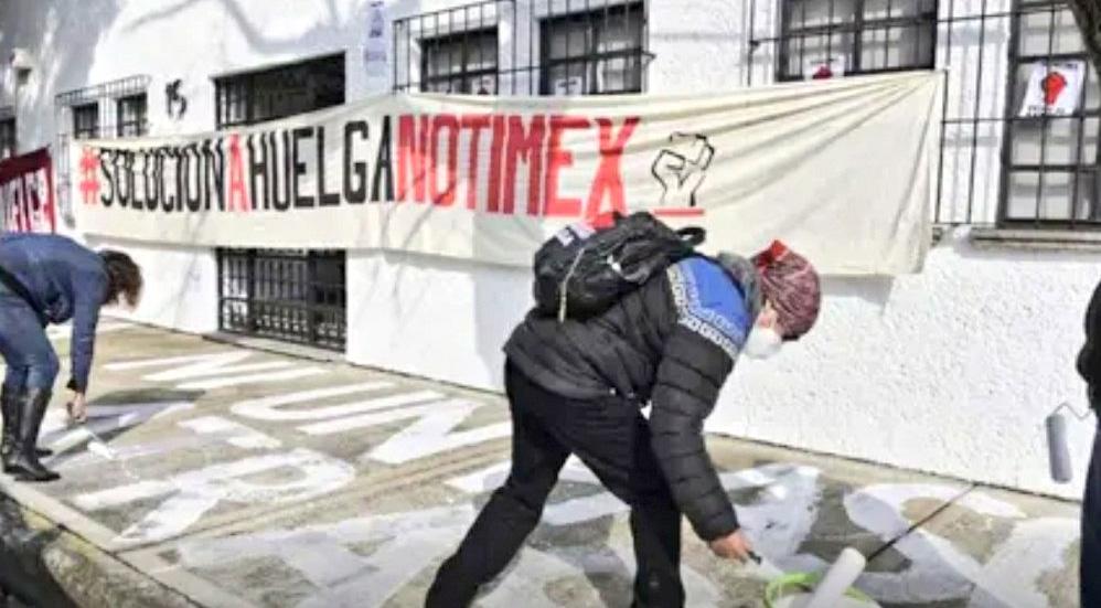 Denuncia Sindicato de Notimex a Sanjuana Martínez por no respetar la huelga - Foto Twitter @sutnotimex