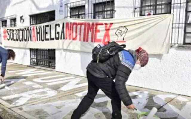 AMLO desea que se llegue a acuerdo en huelga de Notimex; recalca integridad de directora Sanjuana Martínez - Foto Twitter @sutnotimex