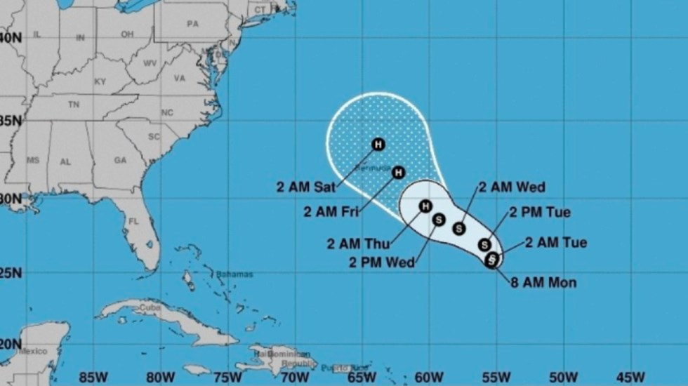 Se forma la tormenta tropical 'Epsilon' al sureste de Bermudas - Foto de EFE