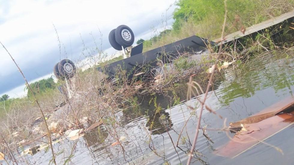 Localizan aeronave accidentada junto a dos cadáveres en el norte de Guatemala - Foto de @GuatemalaGob
