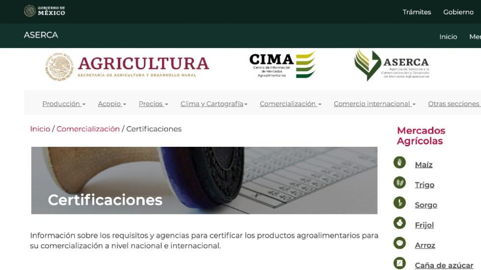 Página de la Secretaría de Agricultura redirige a sitio pornográfico - Foto de captura de pantalla