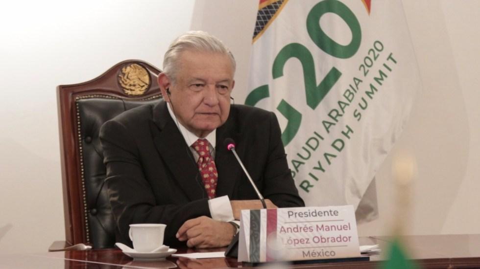 """AMLO pide a líderes del G20 abandonar """"tentación del confinamiento excesivo"""" ante pandemia de COVID-19 - Foto de López Obrador.org"""
