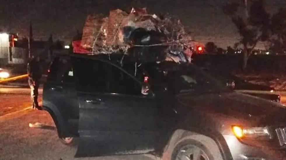 Asesinan en Edomex a menor de 3 años durante asalto - Camioneta en la que viajaba familia atacada a disparos sobre la México-Pirámides. Foto Especial