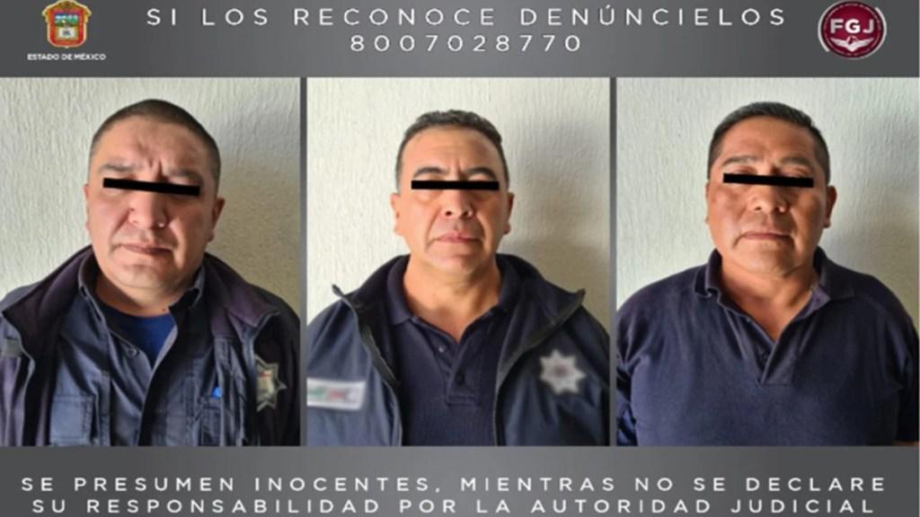 Detienen a tres custodios por muerte de presunto implicado en asesinato de Luis Miranda Cardoso - Custodios detenidos por asesinato de presunto implicado en caso Miranda Cardoso. Foto de FGJEM