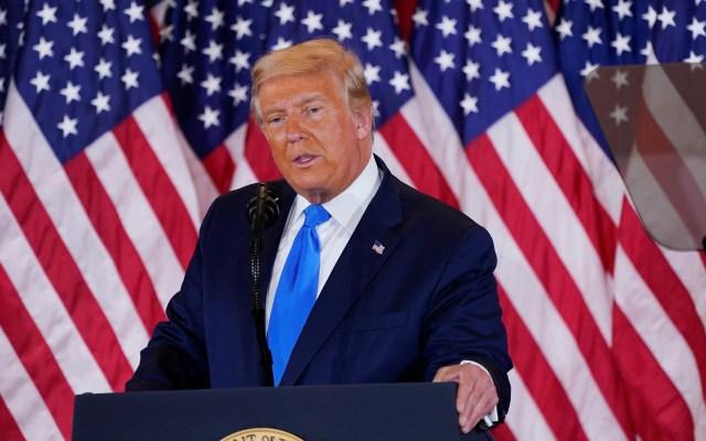 """""""Ganamos estas elecciones"""", sentencia Donald Trump - Donald Trump durante primer mensaje desde la Casa Blanca tras elecciones. Foto de EFE"""