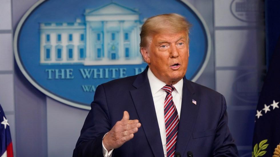 """""""Yo ya gané definitivamente"""", asegura Trump; denuncia fraude electoral por parte de demócratas - Donald Trump durante su segundo mensaje tras elecciones en EE.UU. Foto de EFE"""