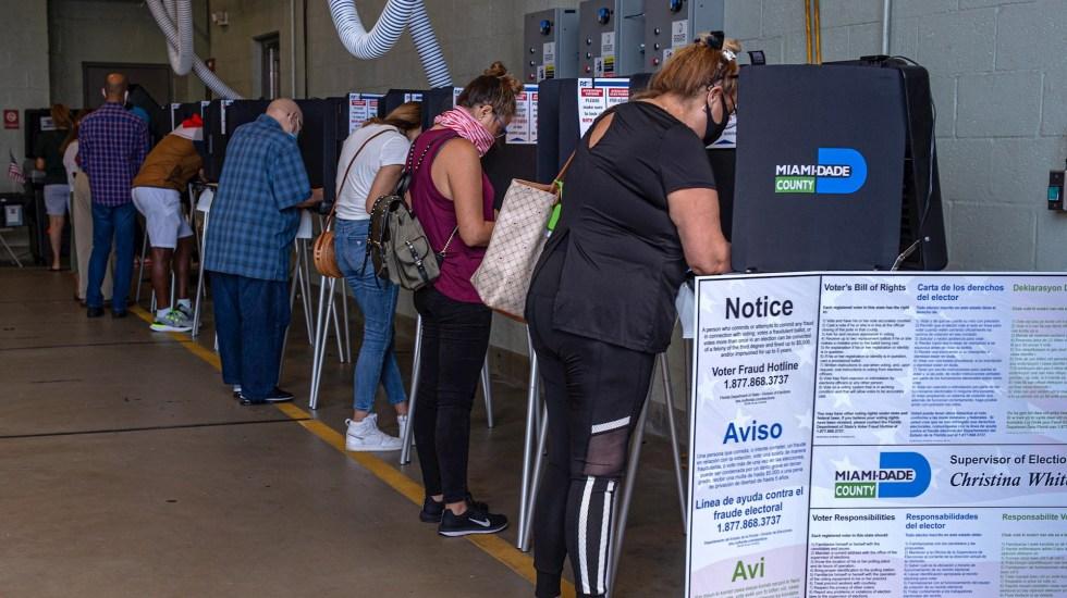 Cierran colegios electorales de 40 entidades en Estados Unidos - Elecciones Miami Florida Estados Unidos 2020