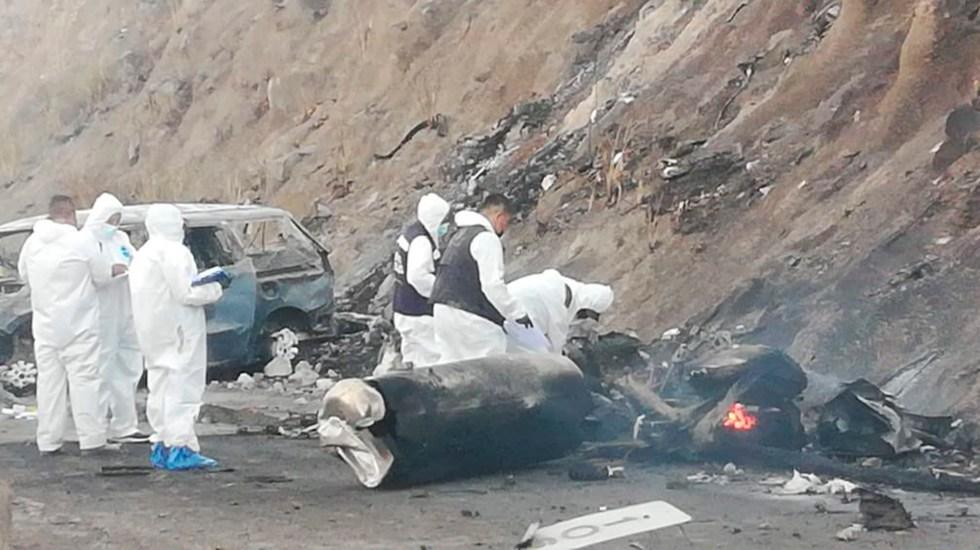 Explosión de pipa de gas en autopista Tepic-Guadalajara deja 14 muertos - Foto de Fiscalía de Nayarit.