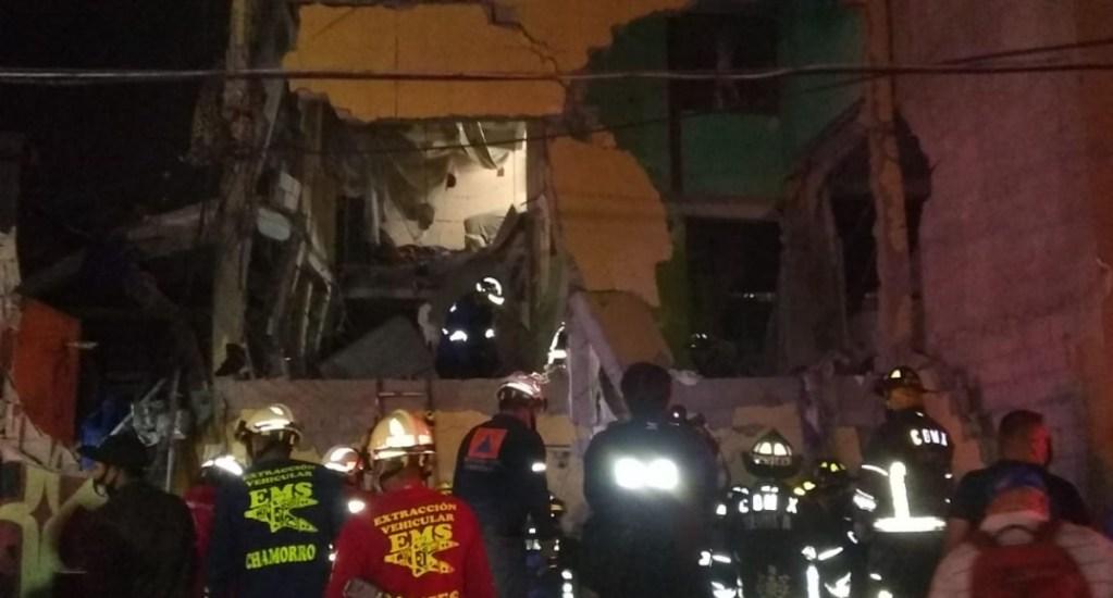 #Video Así la explosión en vecindad de la colonia Morelos; continúa búsqueda de personas - El flamazo ocurrido en la colonia Morelos. Foto de Bomberos de la Ciudad de México