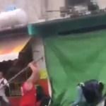 #Video Golpean a comerciantes en CDMX por negarse a pagar extorsión