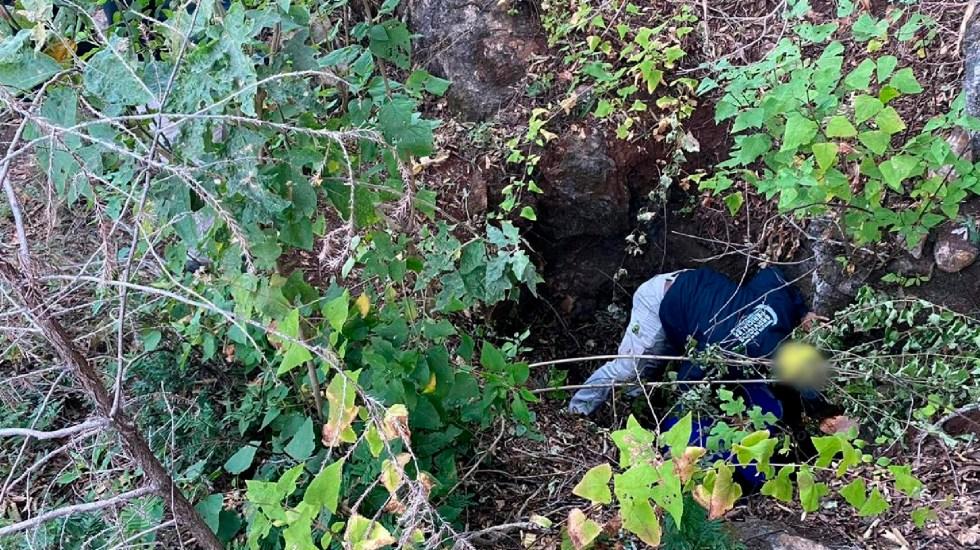 Autoridades hallan tres cadáveres en cueva de San Miguel Coatlán, Oaxaca - Hallan tres cadáveres en cueva de San Miguel Coatlán en operativo de búsqueda de personas, informa Fiscalía de Oaxaca. Foto Twitter @FISCALIA_GobOax