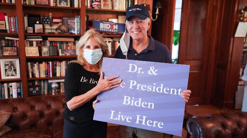 Así festejó Jill Biden, futura primera dama de EE.UU., el triunfo de su esposo en las elecciones - Foto de @DrBiden