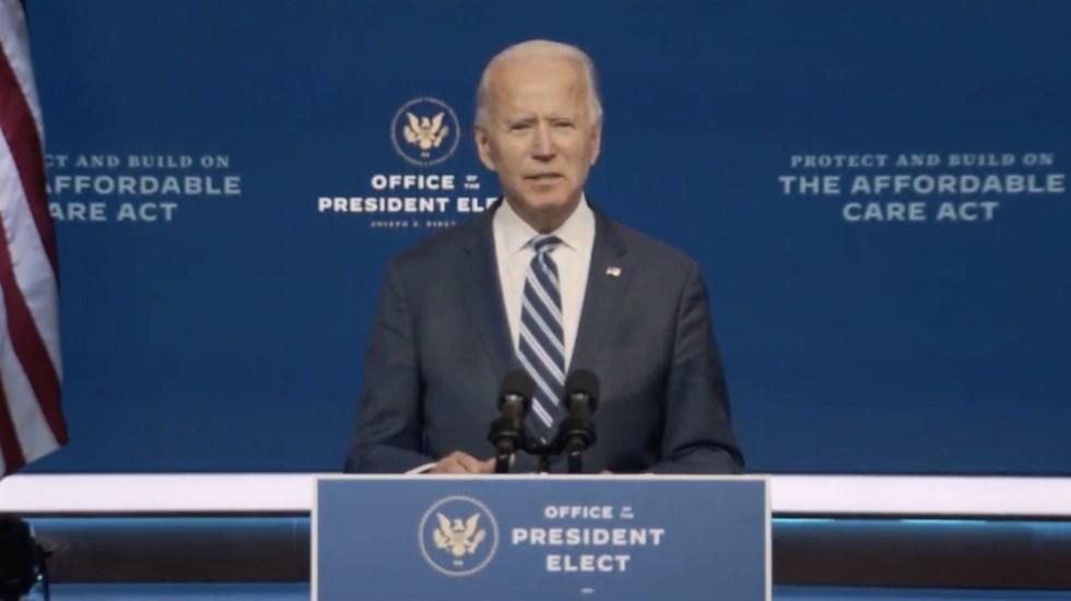 """""""El Obamacare debe enorgullecer al pueblo estadounidense"""", asegura Joe Biden - Captura de pantalla"""