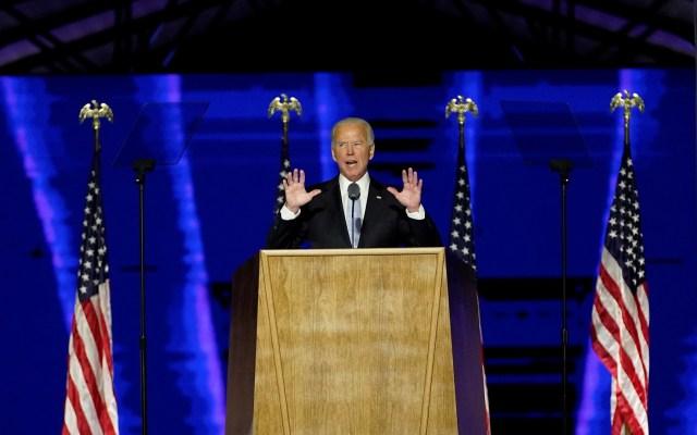 Felicita OMS a Joe Biden, quien prometió frenar salida de EE.UU. de la Organización - Joe Biden durante discurso tras convertirse en presidente electo de EE.UU. Foto de EFE