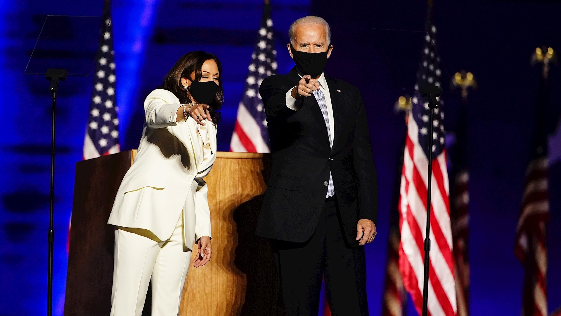 Joe Biden y Kamala Harris. Foto de EFE/ Jim Lo Scalzo.