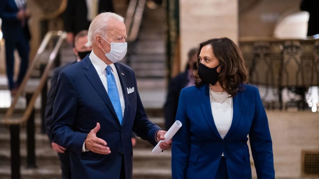 Biden y Harris se describen como presidente y vicepresidenta electos en Twitter - Joe Biden y Kamala Harris. Foto de @KamalaHarris
