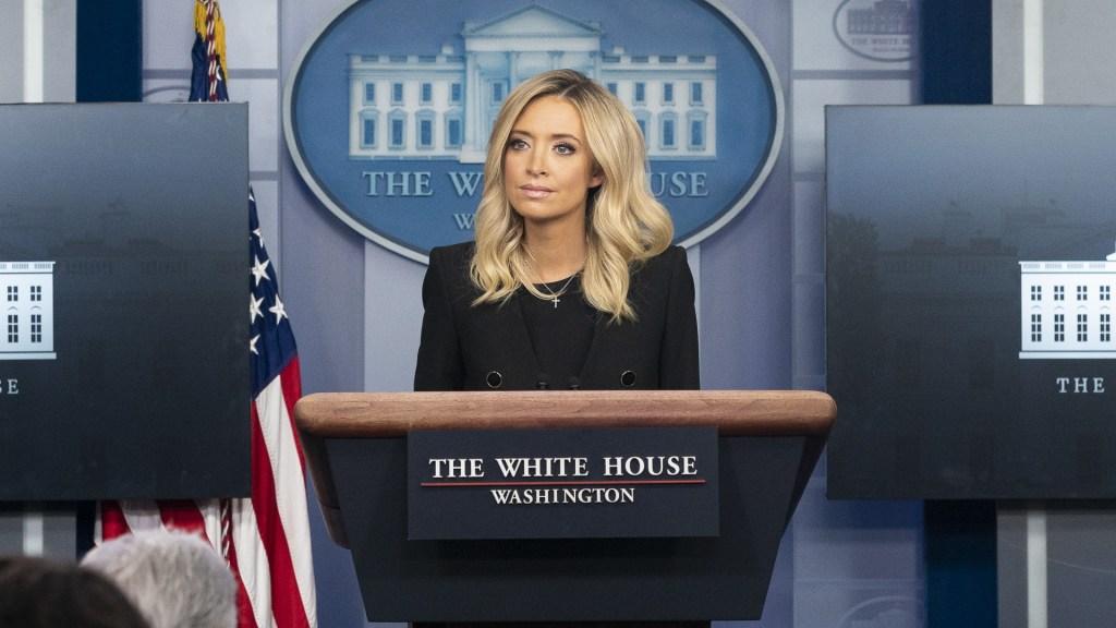 #Video Fox News interrumpe conferencia de la Casa Blanca por acusaciones sin fundamento - Kayleigh McEnany Secretaria Prensa Casa Blanca
