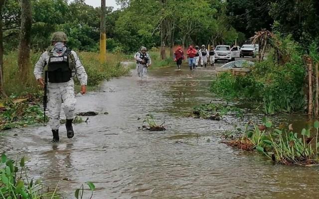 Eta se aleja de México pero deja lluvias torrenciales en Chiapas, Tabasco y Quintana Roo - Foto de Protección Civil Tabasco