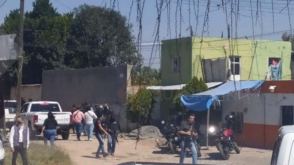Balacera en Jalisco deja dos heridos y cuatro detenidos - Movilización policial en Jalisco por ataque a disparos. Foto de Quadratin