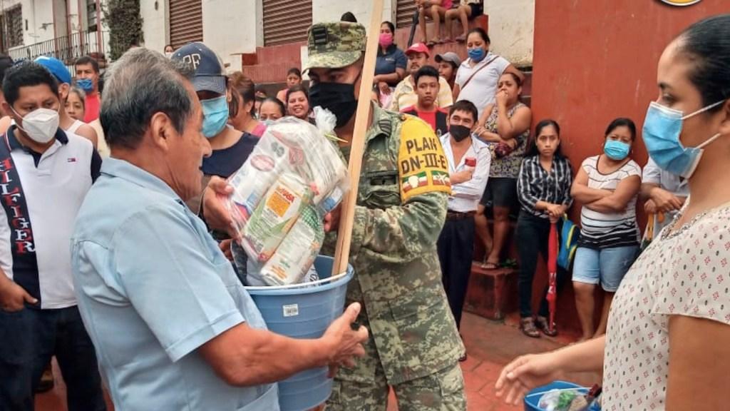 Sedena entregará enseres domésticos a damnificados por inundaciones en Tabasco a partir del 21 de diciembre - Foto de Sedena