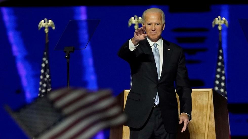 """""""Estados Unidos está de vuelta"""": Biden insta a sanar y unir a los estadounidenses y el resto del mundo - Presidente electo de Estados Unidos, Joe Biden. Foto de EFE"""