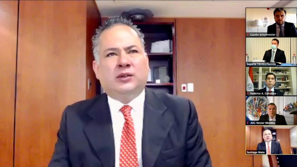 Santiago Nieto asume Vicepresidencia de grupo contra lavado de activos de la OEA - Satiago Nieto al asumir Vicepresidencia del Gelavex. Foto de @MisionMexOEA