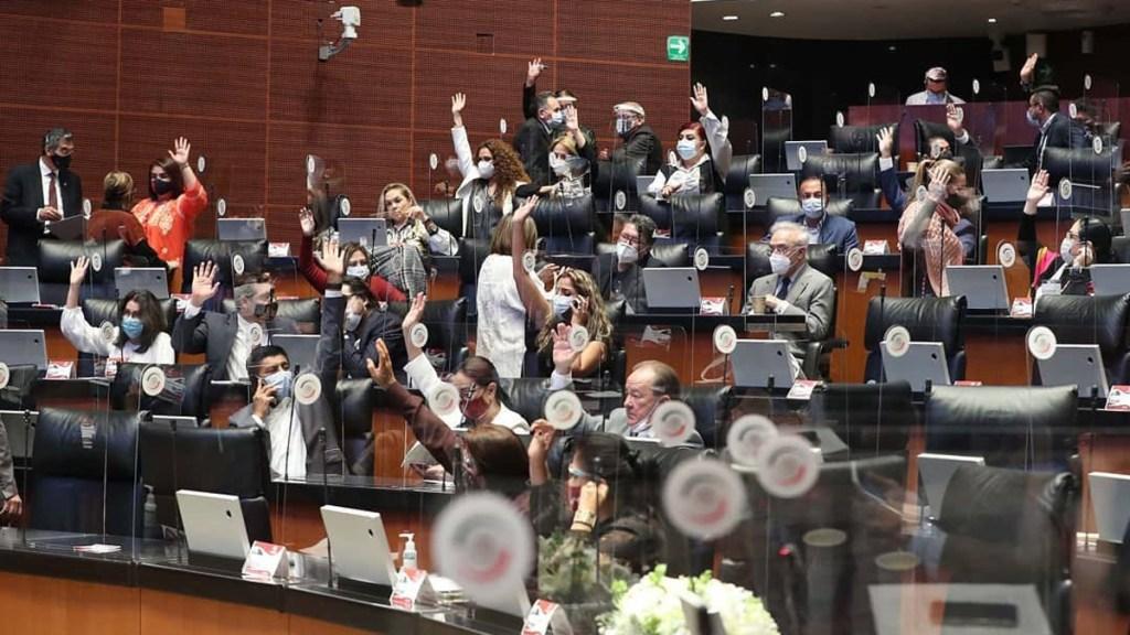 Presenta Monreal propuesta para sesiones a distancia en Senado tras contagios de COVID-19 - Sesión en Senado de la República. Foto de @senadomexico