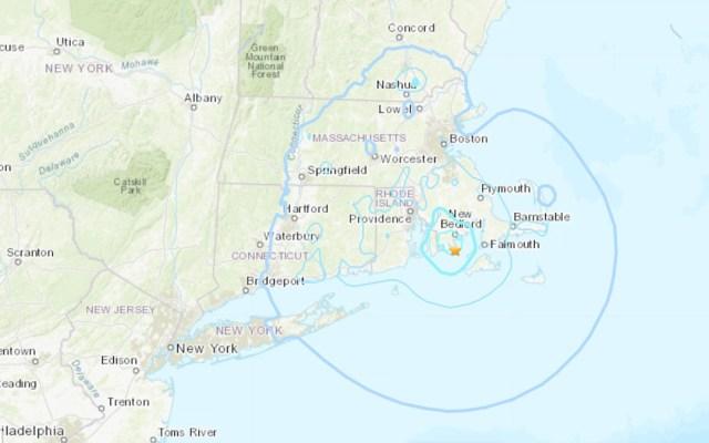 Sismo sacude costa de Massachusetts, Estados Unidos - Sismo en Massachusetts. Foto de @USGS_Quakes