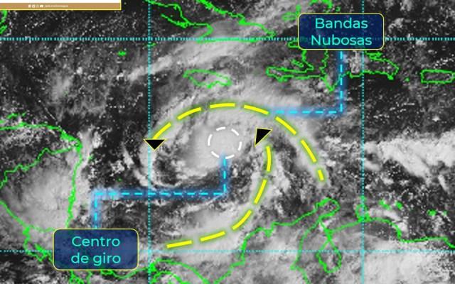 México mantiene vigilancia por tormenta tropical ETA en Mar Caribe - Tormenta tropical ETA. Foto de Conagua
