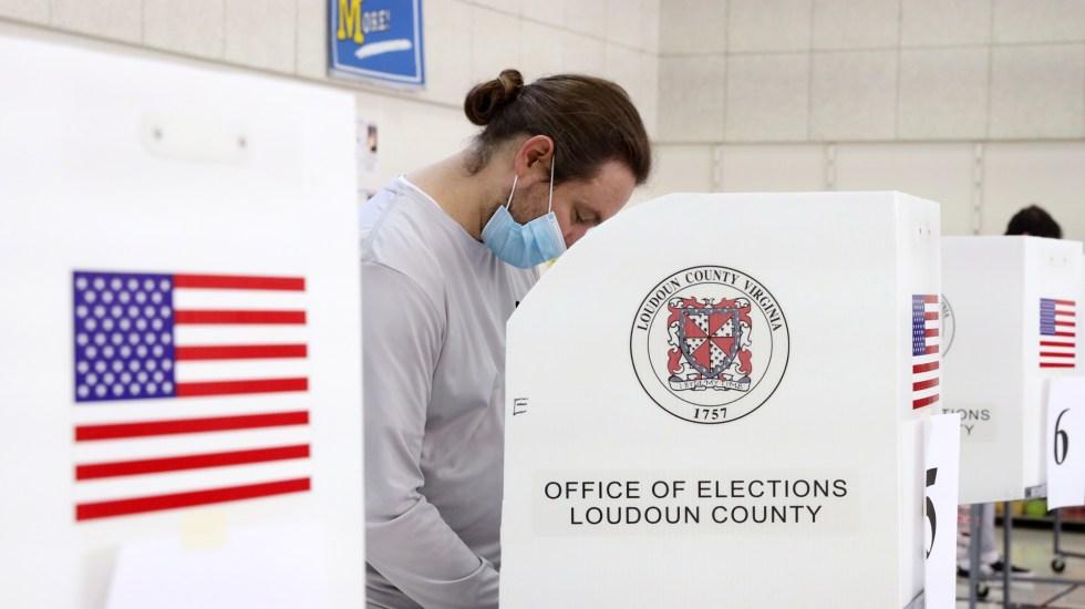 Los 12 estados decisivos para elección de presidente en Estados Unidos - Votación en casilla por elecciones en EE.UU. Foto de EFE