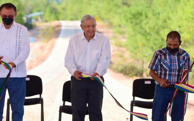 AMLO confía que todo Oaxaca estará comunicado antes de terminar su mandato - AMLO confía que todo Oaxaca estará comunicado antes de terminar su mandato. Foto Presidencia