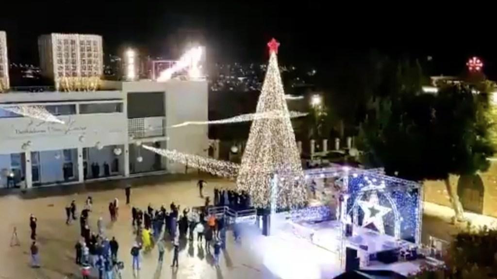 #Video Belén inicia celebraciones con encendido de árbol en ceremonia sin público por el COVID-19 - Captura de pantalla