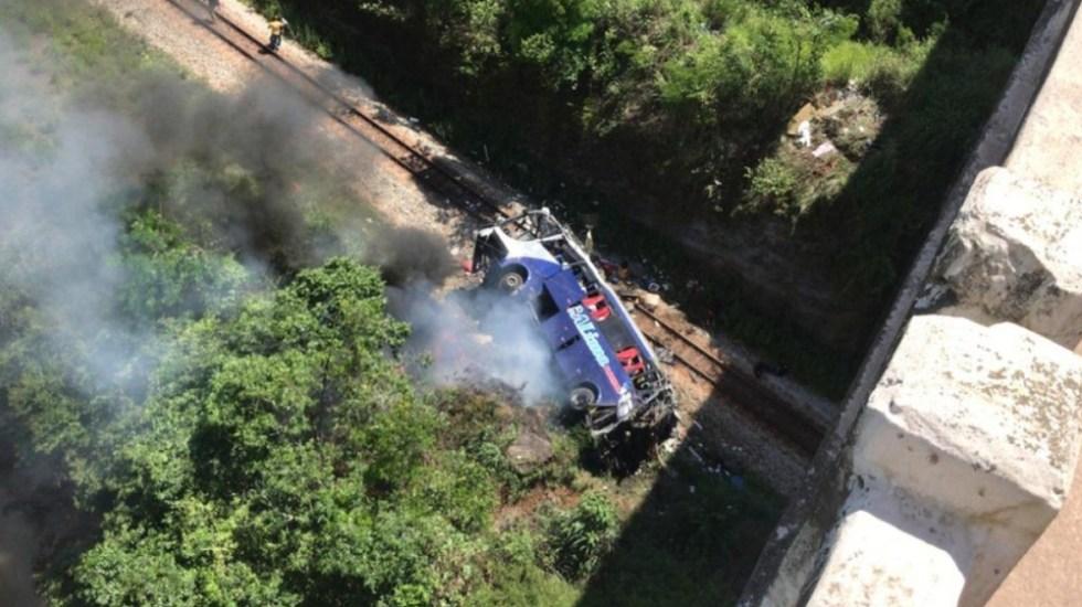 Al menos 14 muertos y varios heridos al caer autobús de un puente en Brasil - Foto de @G1