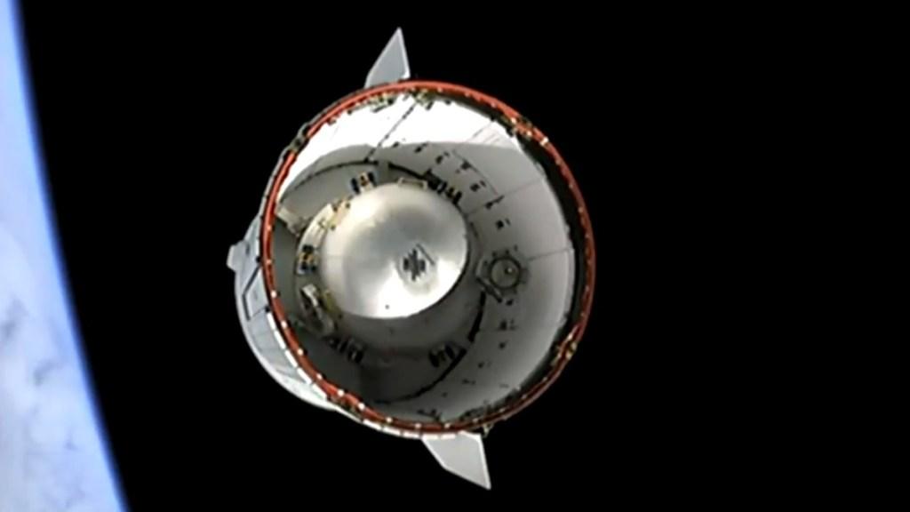 #Video Viaja cápsula Dragon de SpaceX rumbo a EEI con suministros - Cápsula Dragon con suministros y equipo rumbo a la EEI. Captura de pantalla