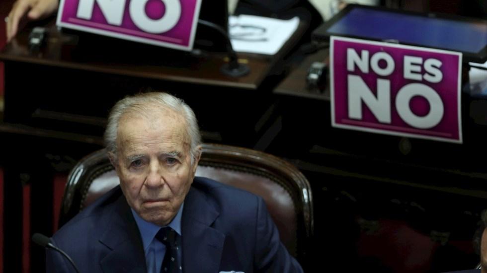 Hospitalizan al expresidente argentino Carlos Menem, de 90 años - Carlos Menem