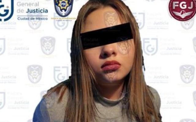 Detienen a la hija de 'El Betito', acusada del homicidio de su novio de 17 años de edad - Foto de Fiscalía General de Justicia CDMX