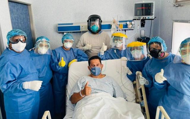 Gobernador Diego Sinhue sale del hospital tras ingreso preventivo por COVID-19 - Diego Sinhue Rodríguez antes de ser dado de alta del hospital. Foto de @diegosinhue